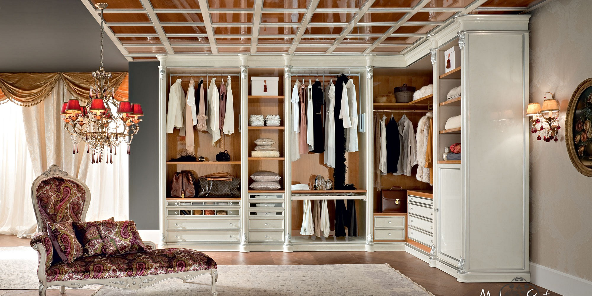 High end walk in closet design for large room classic - Closet design ...