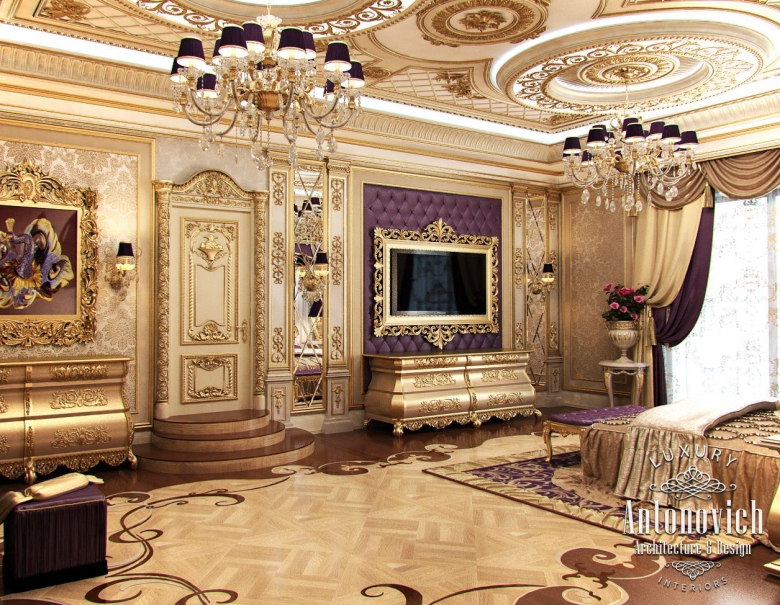 Master bedroom for luxury royal palaces classic italian for Interior design bedroom classic