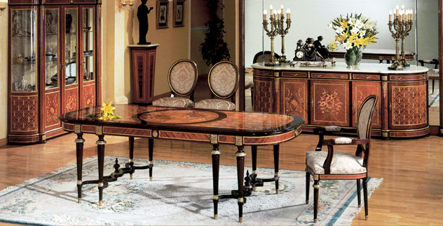 Spanish louis xvi style dining roomtop and best italian classic furniture - Dining room spanish ...