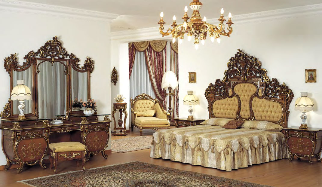 Top crown bedroomtop and best italian classic furniture Tuscan style bedroom furniture