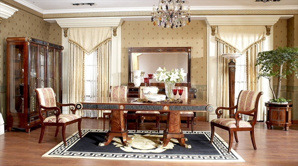 Empire dining room in neoclassic styletop and best - Table de salon baroque ...