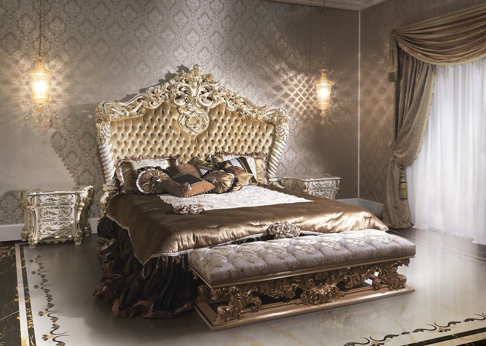 Italian Capitone Bedroom In Baroque StyleTop And Best Italian