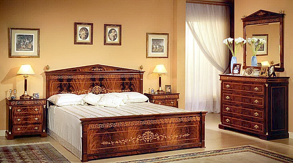 Empire Bed Room Set In Spanish Style
