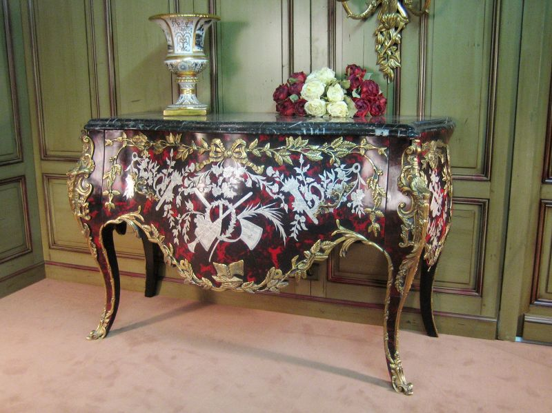 French Boulle Chest By Eric Marjolet , French Boulle Chest Of Drawer. Louis  XV ...