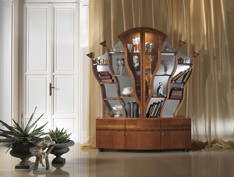 187 Classic Glass Bookcase In Italian Styletop And Best