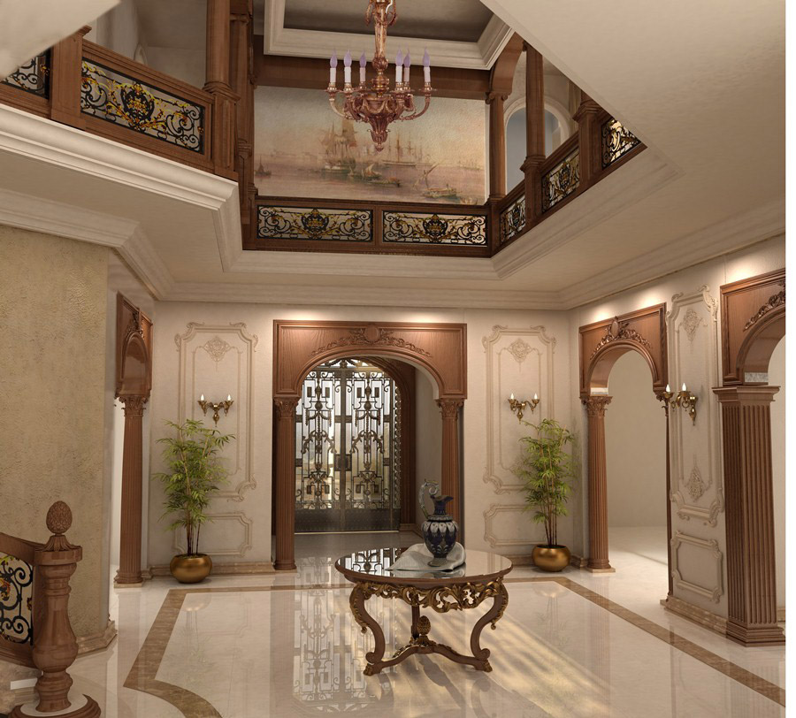 Ahmed abo ahmed villa interior and exterior design for Classic house design interior