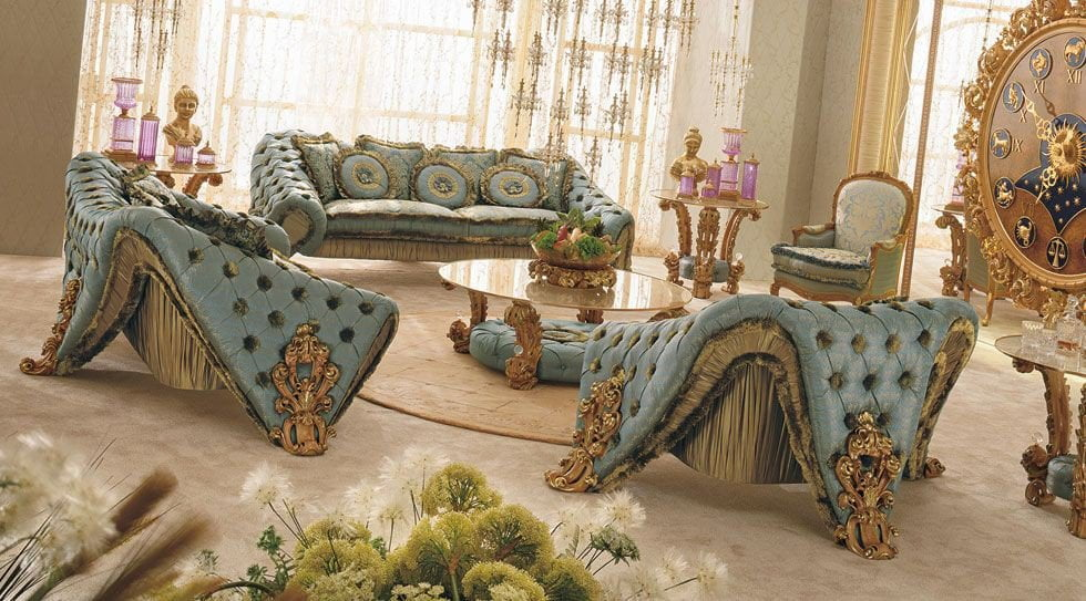 Gold Carving Italian Sofa Set Part 93