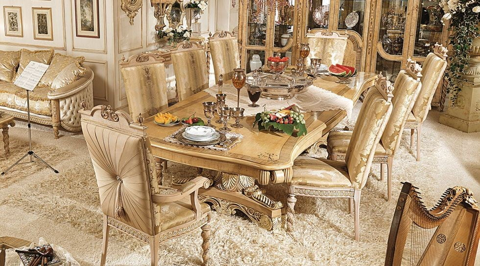 Special handmade Dining Room SetTop and Best Italian Classic Furniture