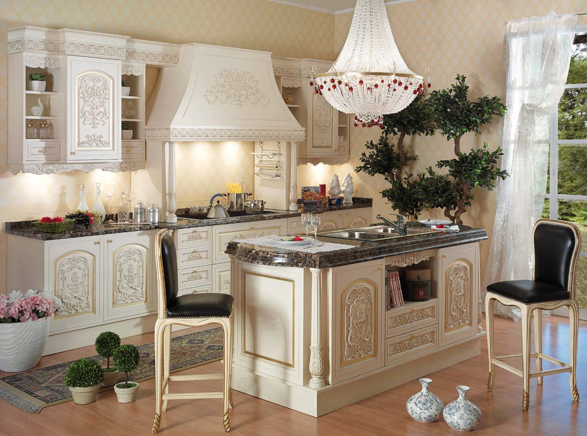 Italian style kitchentop and best italian classic furniture for Italian kitchen cabinets