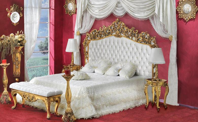 Classic silver or gold finish bedroom from turkeytop and - Bedroom furniture made in turkey ...
