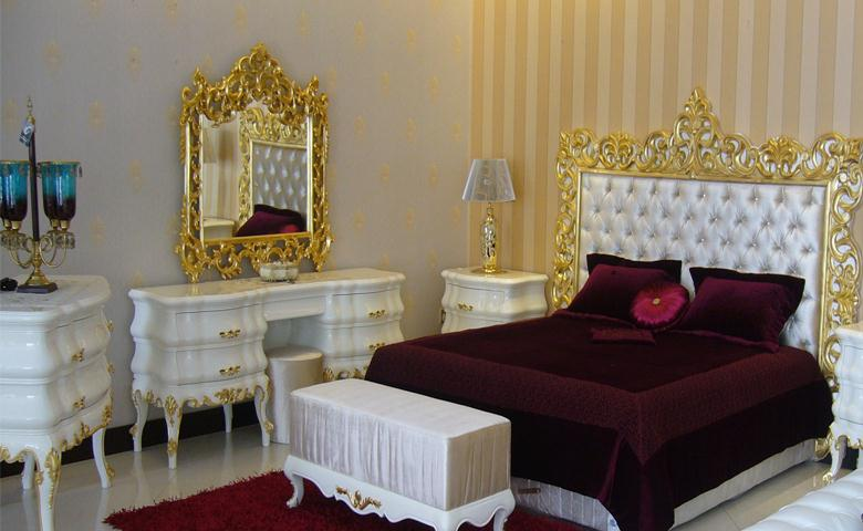 White And Gold Bedroom Set : Red or White Capitone Bedroom in Gold FinishTop and Best Italian ...