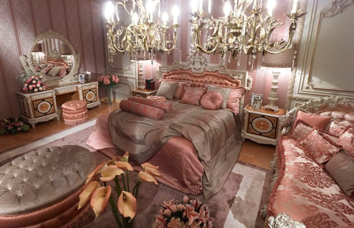 187 Pink Classic Style Italian Bedroomtop And Best Italian