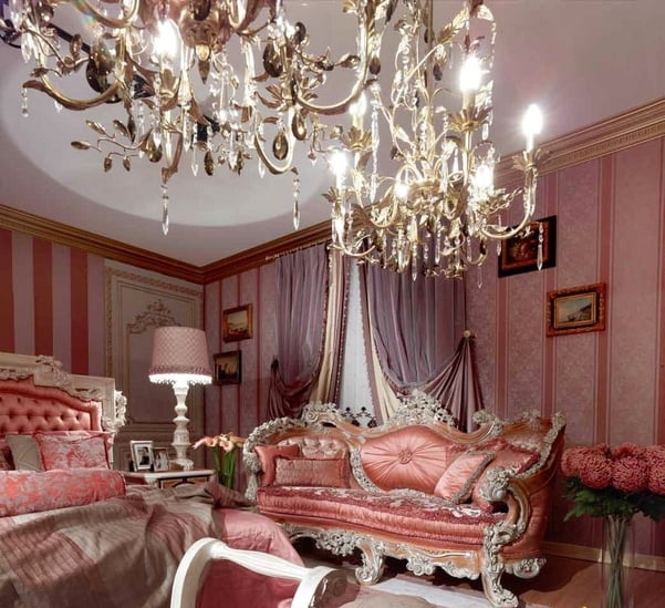 Pink Classic Style Italian BedroomTop and Best Italian Classic