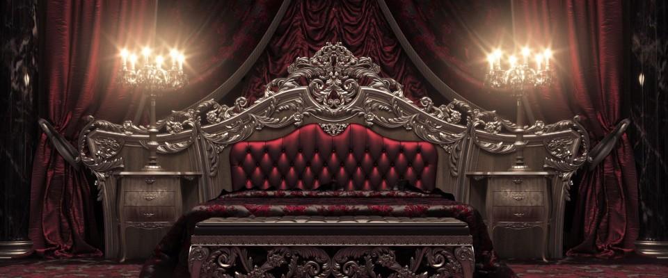European Style Luxury Carved Bedroom Set