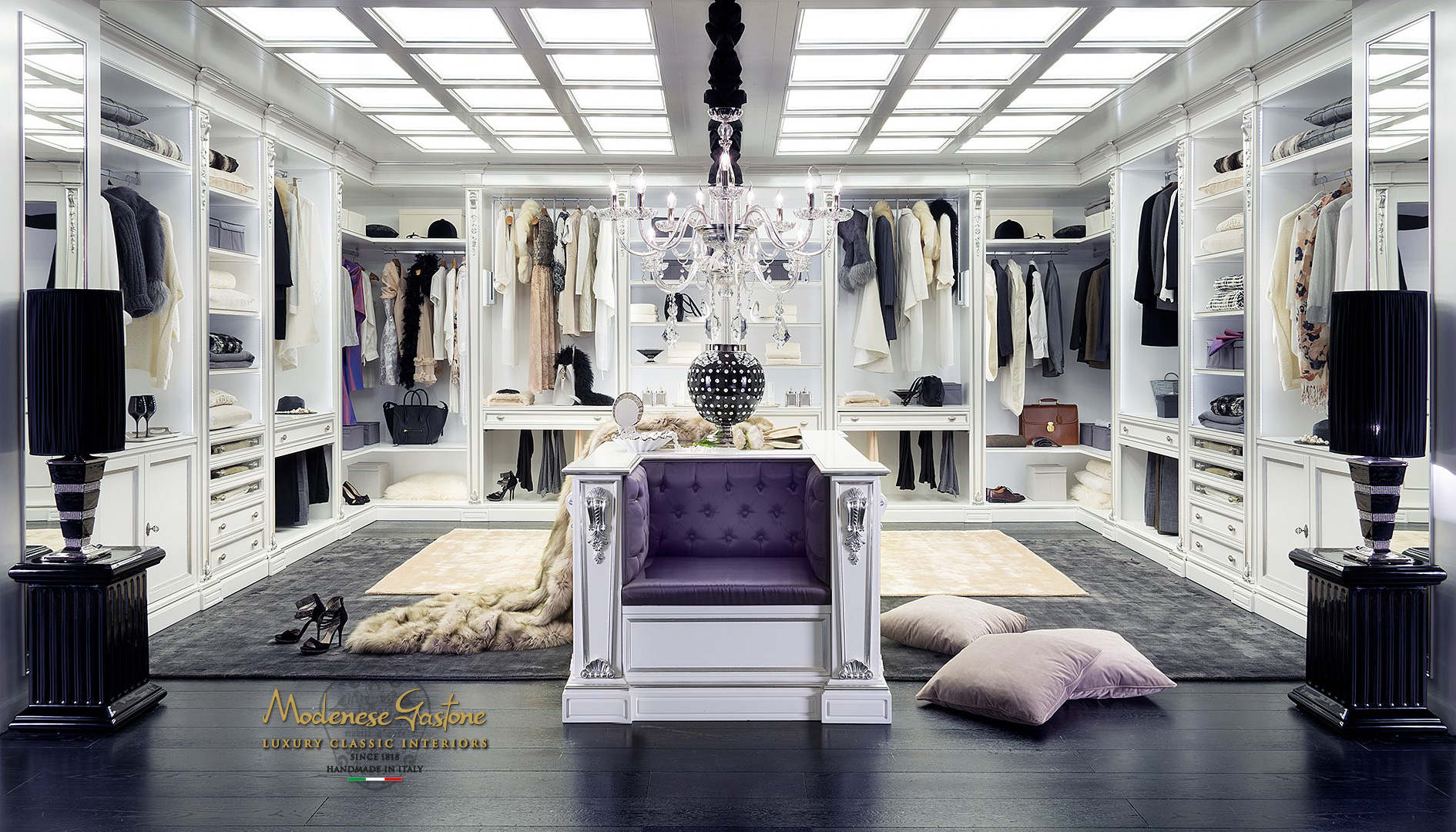 High End Walkin Closet Design For Large Room Classic Italian - High end closet design