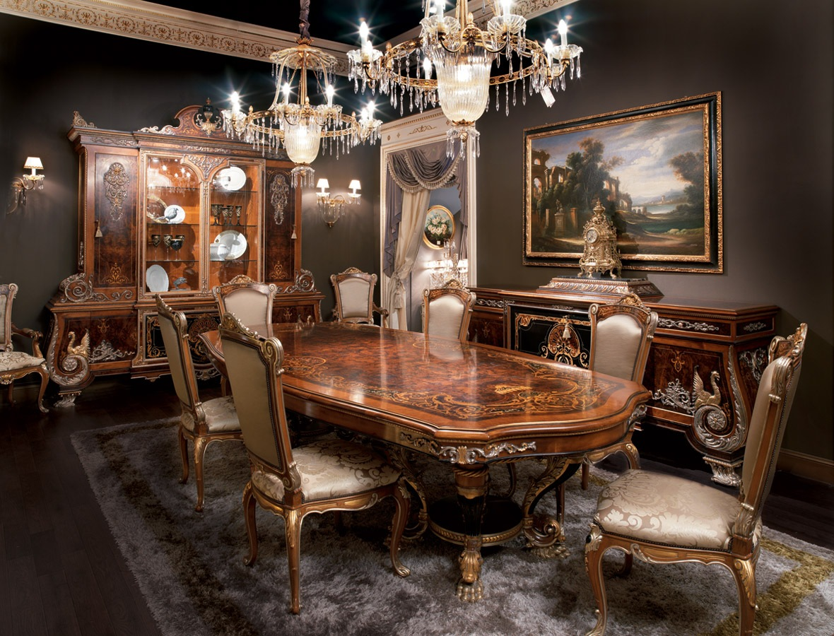 Empire Style Dining Room Classic Italian Furniture
