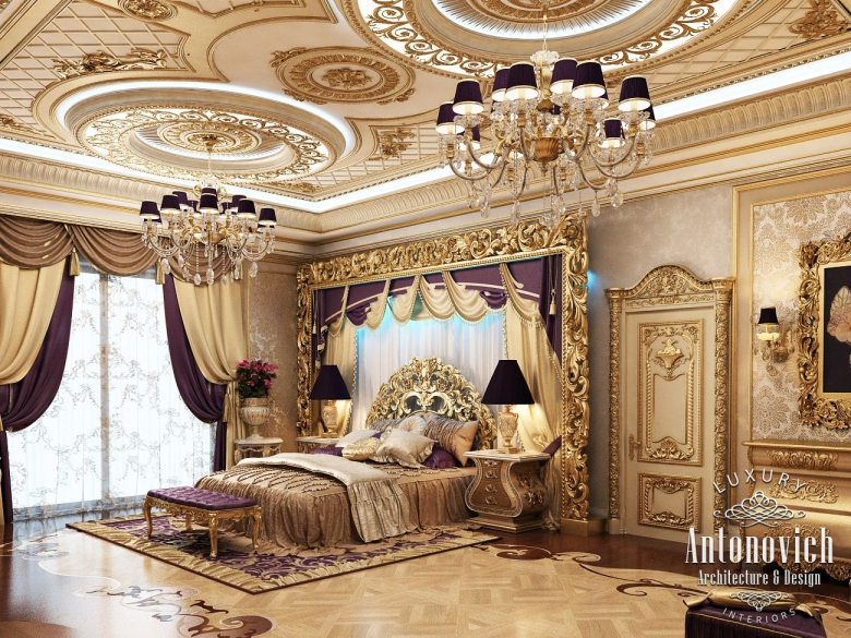 Master Bedroom For Luxury Royal Palaces