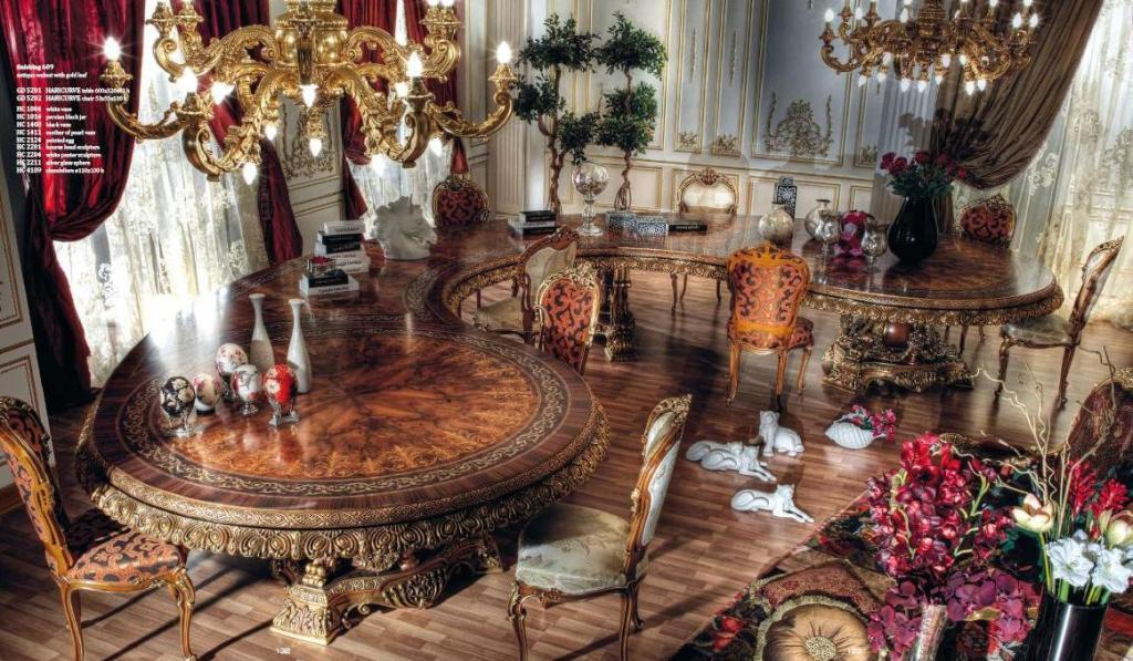 187 Italian Curved Dining Table In Baroque Styletop And Best Italian