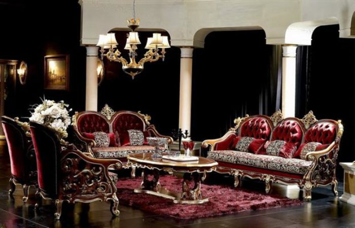 187 Royal Italian Capitone Living Room Victorian Styletop