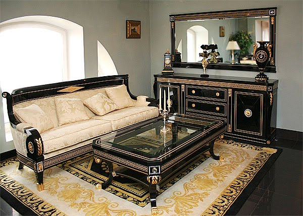 187 Living Room Set In Empire Styletop And Best Italian Classic Furniture