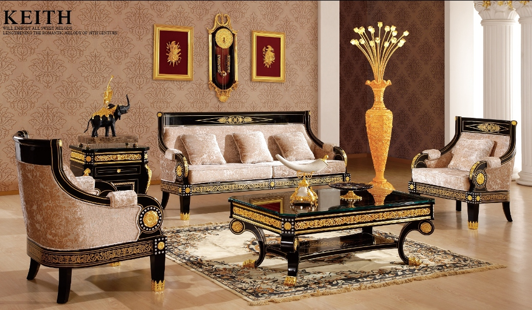 living room set up styles on Living Room Set In Empire Style   Classic Interior And Furniture