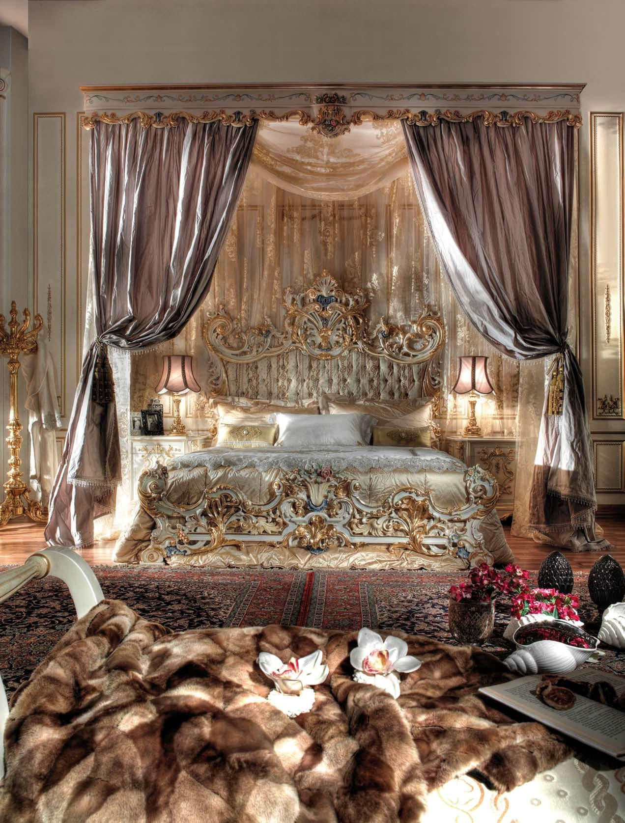 » king bed room royal suite gold italy finishtop and best