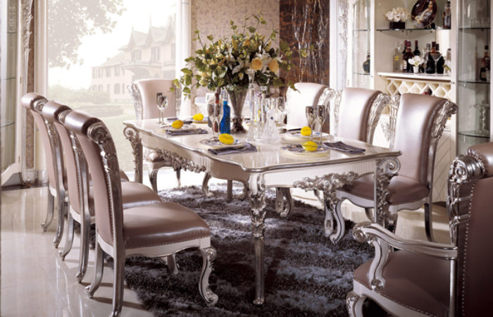 187 Silver Dining Room In Italian Styletop And Best Italian Classic Furniture