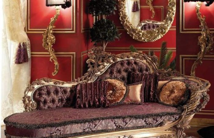 Carved italian style chaise loungetop and best italian for Carved chaise lounge