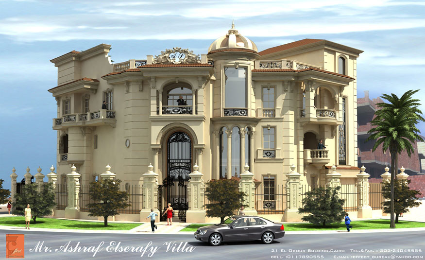 Ashraf el serafey villa interior and exterior design for Villas exterior design pictures