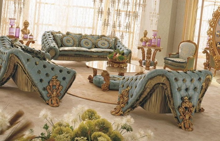 187 Gold Carving Sofa Settop And Best Italian Classic Furniture