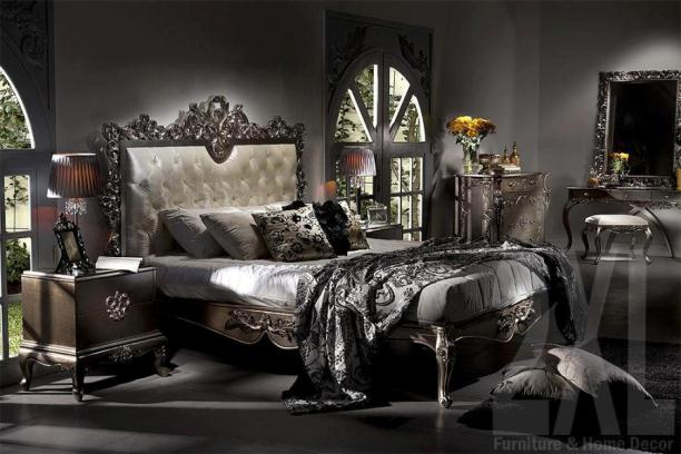 Silver Bedroom Hand Carved