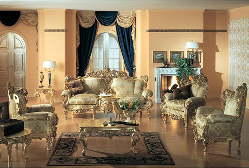 Victorian gold eolo living room settop and best italian - Victorian style living room ...