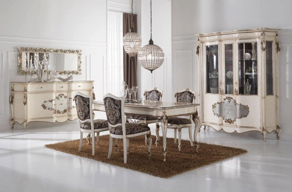 silver leaf dining room furnituretop and best italian classic furniture - Silver Dining Room Interior