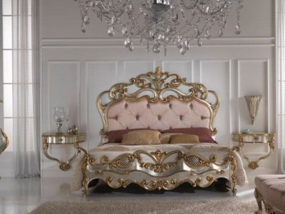 Virginia Clic Bedroom Louis Xv Style Gold And Silver Leaf