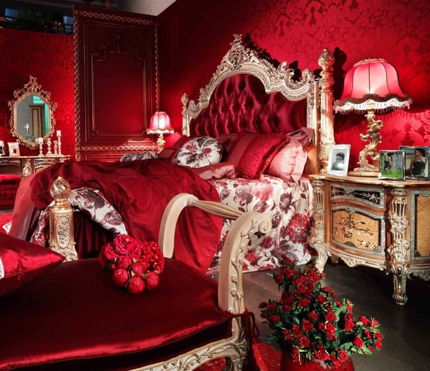 187 Red Italian Style Bedroom Furnituretop And Best Italian