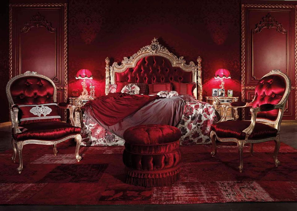 Red italian style bedroom furnituretop and best italian for Red bedroom furniture