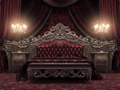 handicraft tradition classic bed in silver finish european bedroom eur001b italian style best italian furniture