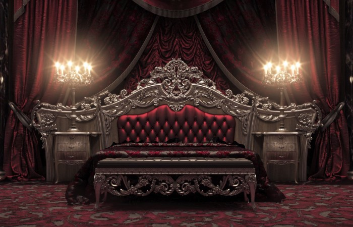 187 European Style Luxury Carved Bedroom Settop And Best