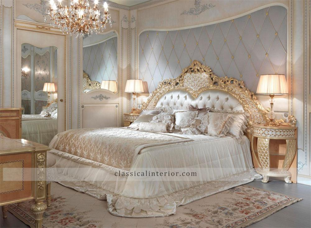 Golden Bedroom GO001BTop and Best Italian Classic Furniture